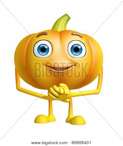Pumpkin Character With Promise Pose