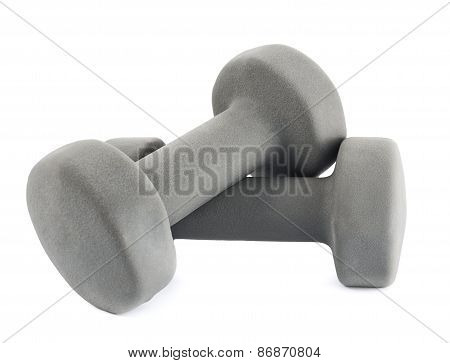 Two soft dumbbells composition