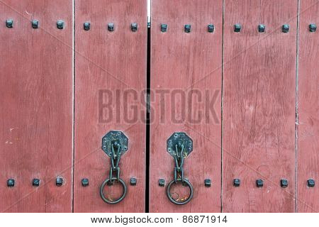 Gate  Of Korean Palace Closeup