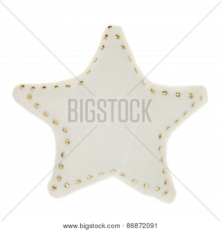 White star shaped decoration