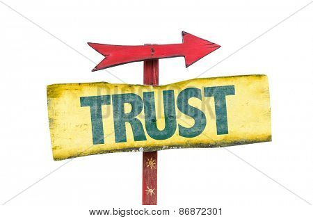 Trust sign isolated on white