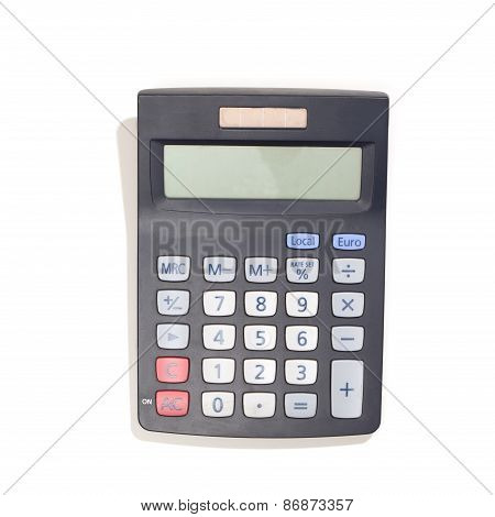 Modern Calculator With Solar Cells