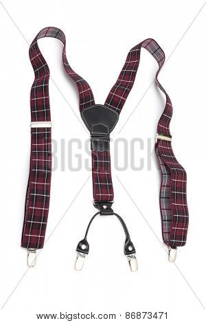 new suspenders on a white background