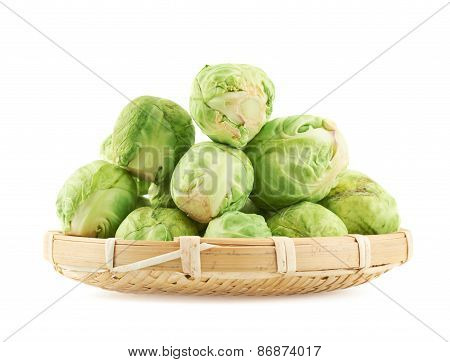 Full basket of brussels sprouts