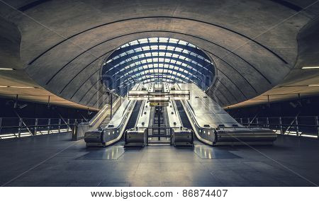 The Canary Wharf Tube Station , London