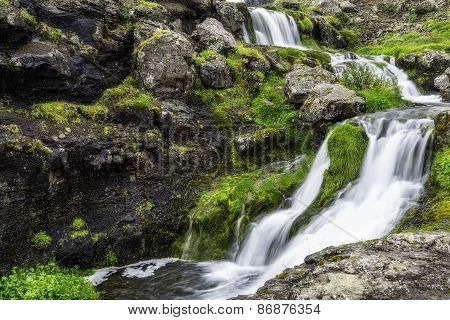 Dynjandi, A Waterfall In Iceland