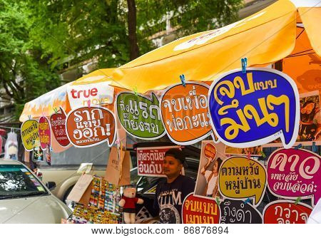 Funny labels in Thai language on sale for college student graduation