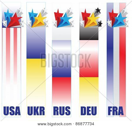 Banners Countries Taking Part In Resolving The Conflict In Ukraine