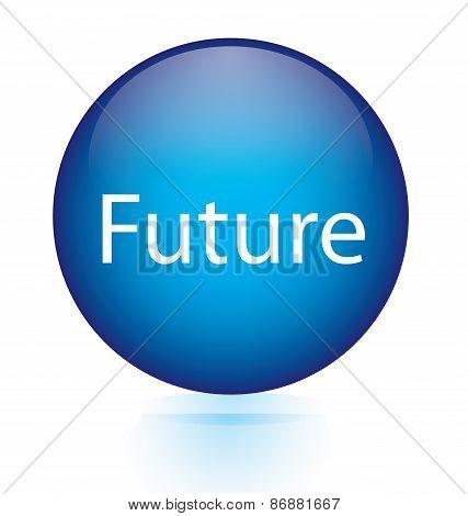 Future blue circular button
