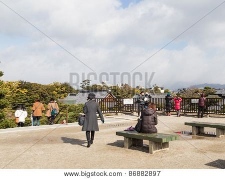 Observation Deck With Benches In The