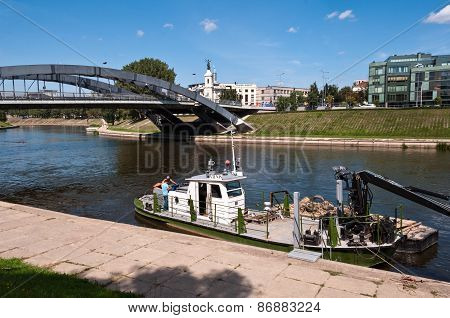 Neris River in Vilnius City