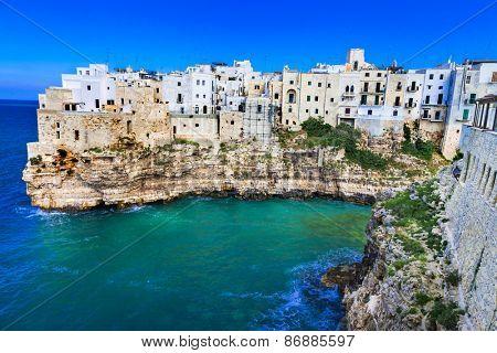 Polignano al mare - beautiful  village in rocks in Puglia, Italy