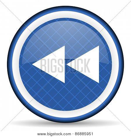 rewind blue icon