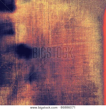 Grunge texture, distressed background. With different color patterns: brown; blue; purple (violet); red (orange)