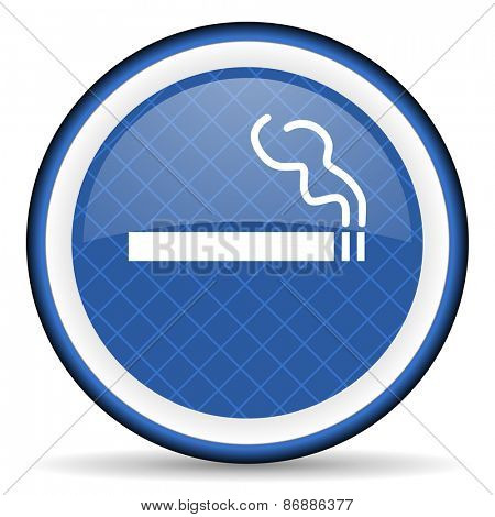cigarette blue icon nicotine sign