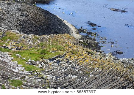Staffa from the Old Norse for stave or pillar island is an island of the Inner Hebrides in Argyll and Bute Scotland.