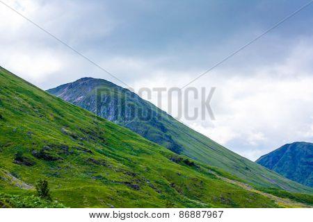 Glencoe, Highland Region, Scotland Glencoe Or Glen Coe Mountains Panoramic View  ,scottish Higlands,
