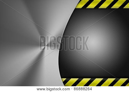 Shiny steel background. Copy space