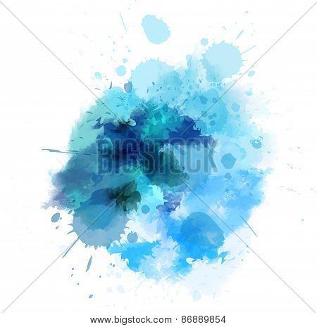 Blue Watercolored Blot