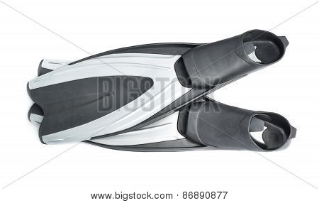 Swim fin diving flippers isolated