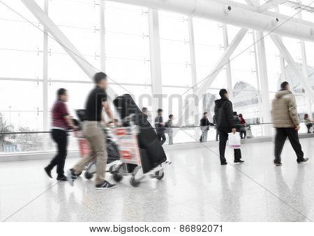 Passengers in guangzhou International Airport Airport