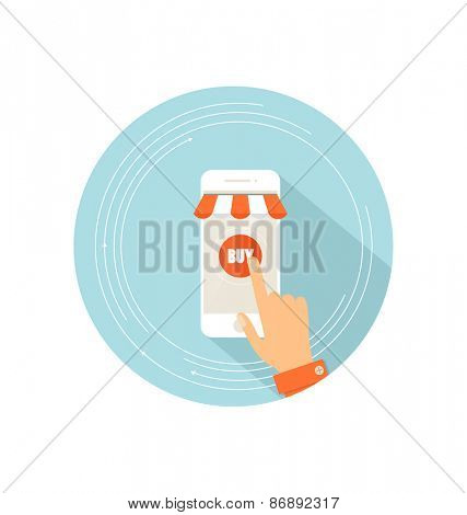 E-commerce ideas with Online store, vector Illustration.