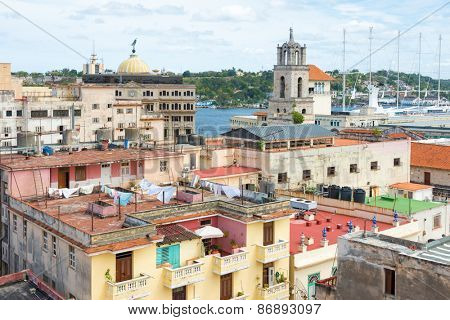 Old Havana with views over the bay and several well known landmarks
