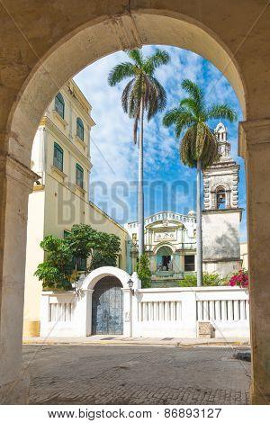 Old church in the colonial neighborhood of Havana