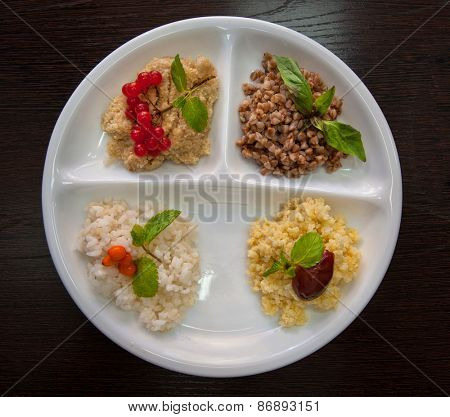 Cereals - buckwheat, rice, millet, wheat groats