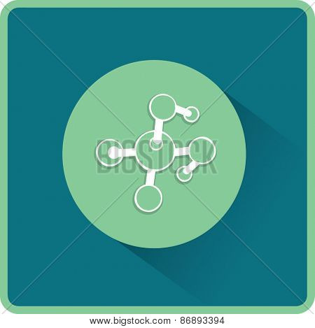 Molecule. Flat Vector Icon
