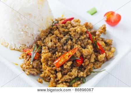 Spicy fried pork with chili paste