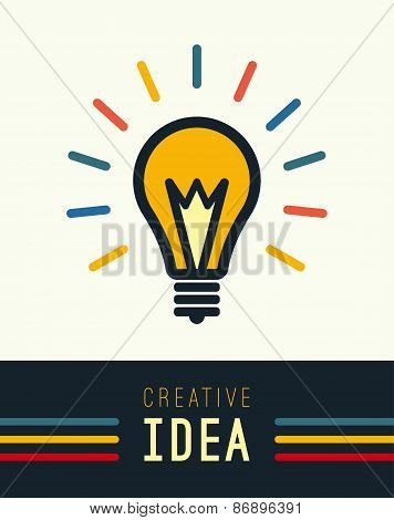 Creative, Creativity, Ideas design concept with light bulb on wh