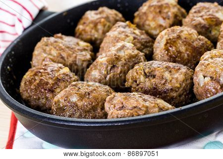Cooking Meatballs