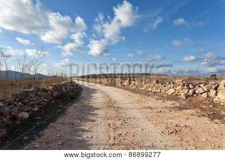 Dirt Track In Favignana, Sicily