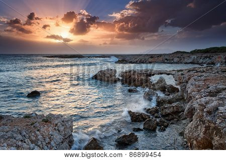 Favignana, Sicily : Stunning Sunset On The Sea