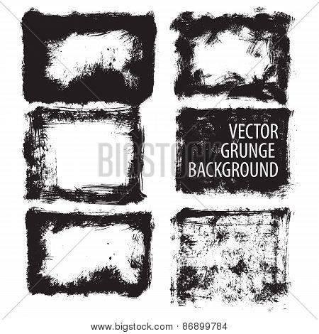 Set of grunge background. Vector.