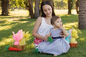picture of baby easter  - Two girls sisters - JPG