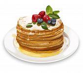 picture of realism  - Summer Pancakes With Raspberries - JPG