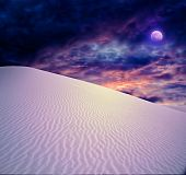 image of full_moon  - Full moon at White Sands New Mexico - JPG