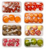 image of packing  - fruits and vegetables in vacuum packing - JPG