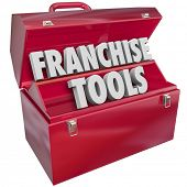 pic of food chain  - Franchise Tools words in a red metal toolbox to illustrate help - JPG