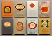 picture of brochure design  - Set of Vintage Labels - JPG