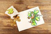 foto of leprechaun  - Greeting card for Saint Patrick - JPG