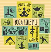 pic of pranayama  - Vector illustration of yoga lifestyle - JPG