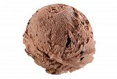 foto of ijs  - Scoop of chocolate ice cream on white background with clipping path - JPG