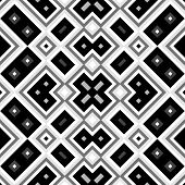 stock photo of quadrangles  - Seamless black and white geometric background generated from squers - JPG