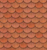 foto of red roof  - red clay roof tiles  - JPG