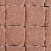 stock photo of paving stone  - Tiled with paving stone bricks path - JPG