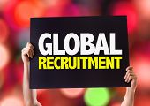 pic of recruiting  - Global Recruitment card with bokeh background - JPG