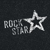 picture of rock star  - Rock Star Symbol on Asphalt Texture - JPG